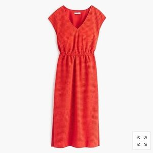 J. Crew Orange Persimmon Dress